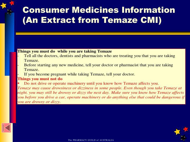 Consumer Medicines Information