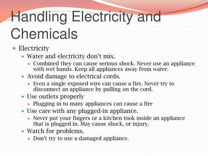 Handling Electricity and Chemicals