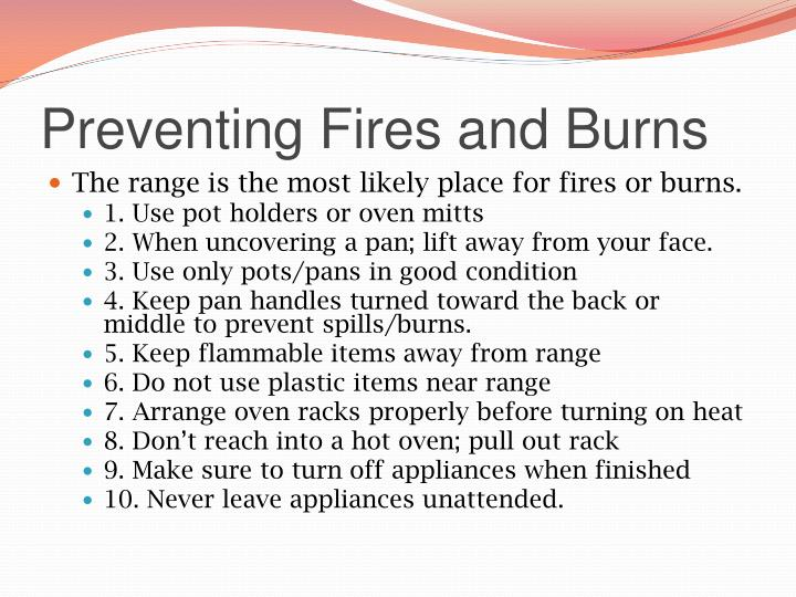 Preventing Fires and Burns