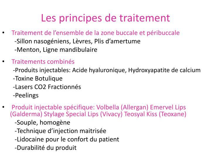 Les principes de traitement