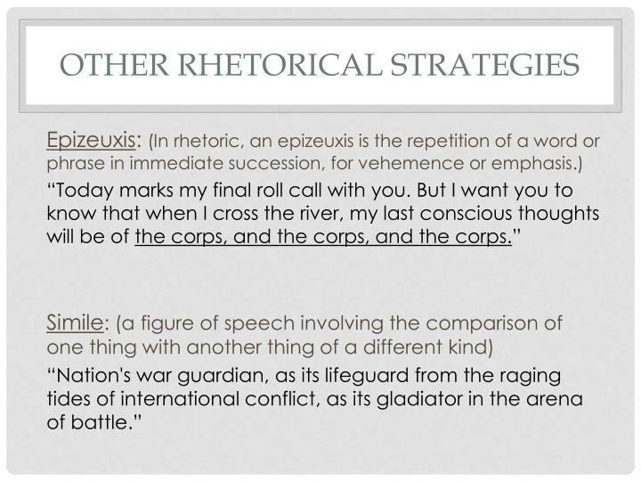 Other Rhetorical Strategies