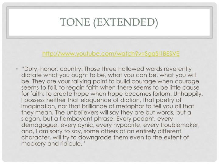 Tone (extended)