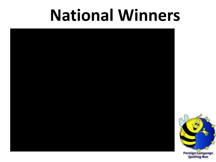 National Winners