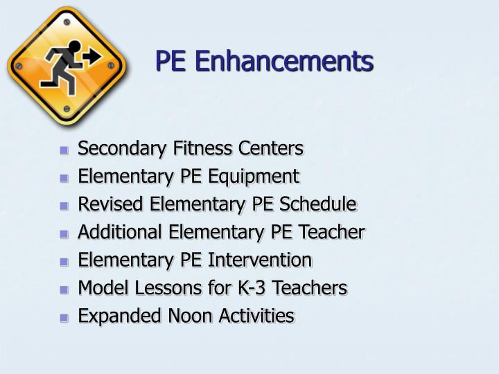 PE Enhancements