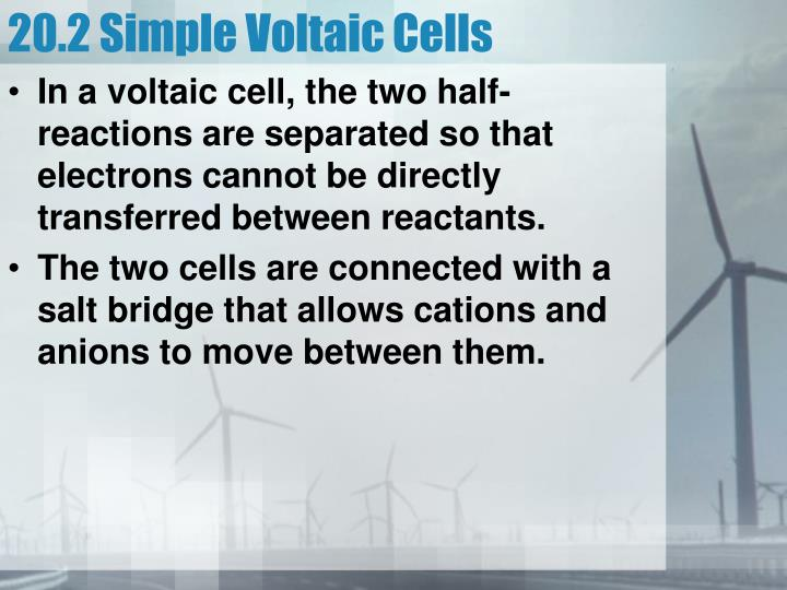 20.2 Simple Voltaic Cells