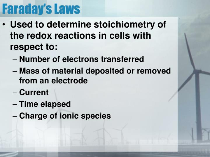Faraday's Laws