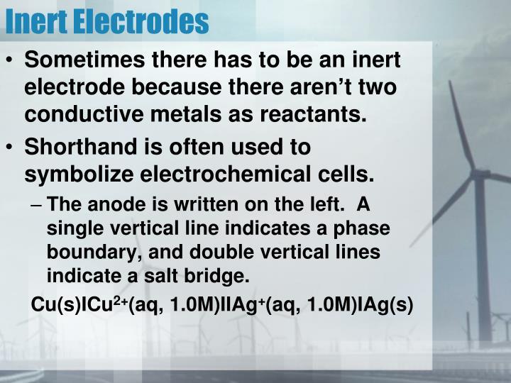 Inert Electrodes