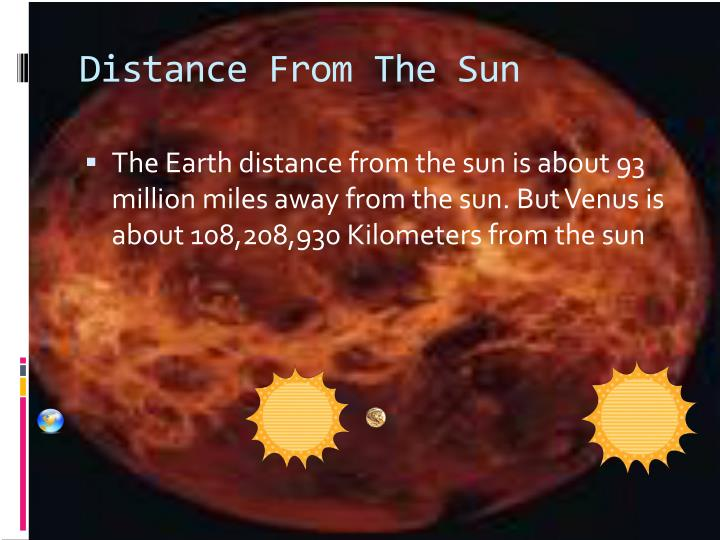 Distance From The Sun