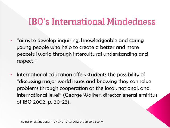 IBO's International Mindedness