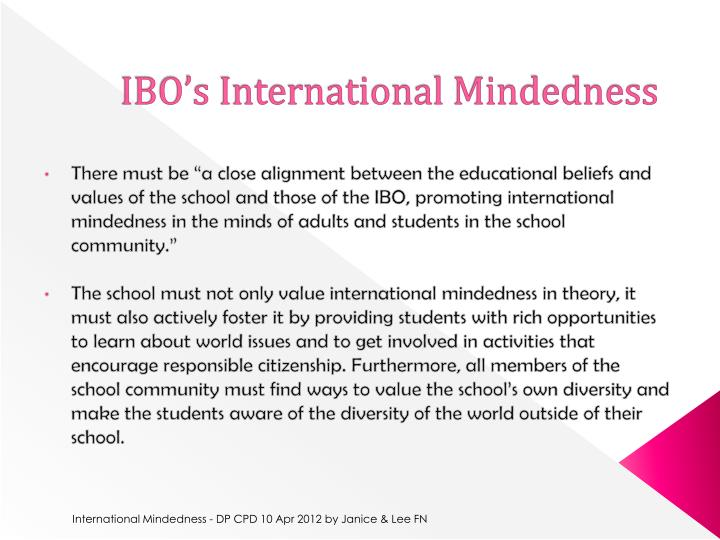 IBO's International Mindedness