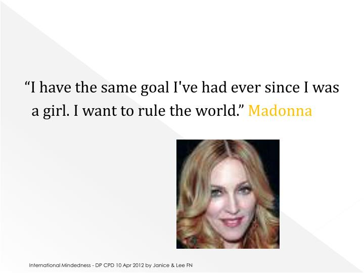 """""""I have the same goal I've had ever since I was"""