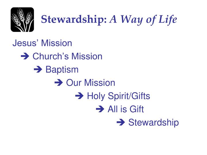 Stewardship a way of life