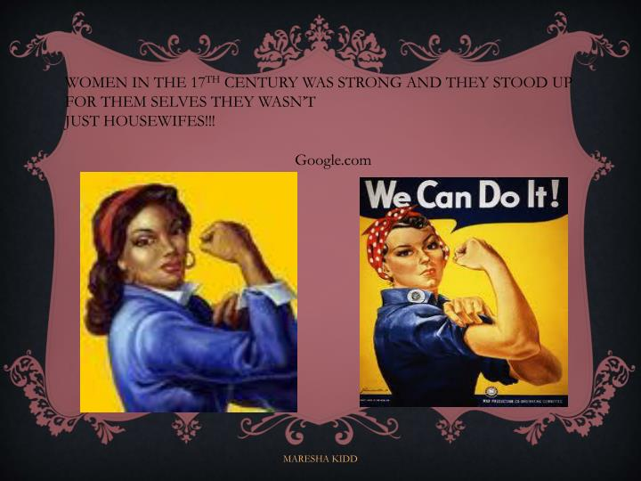 WOMEN IN THE 17