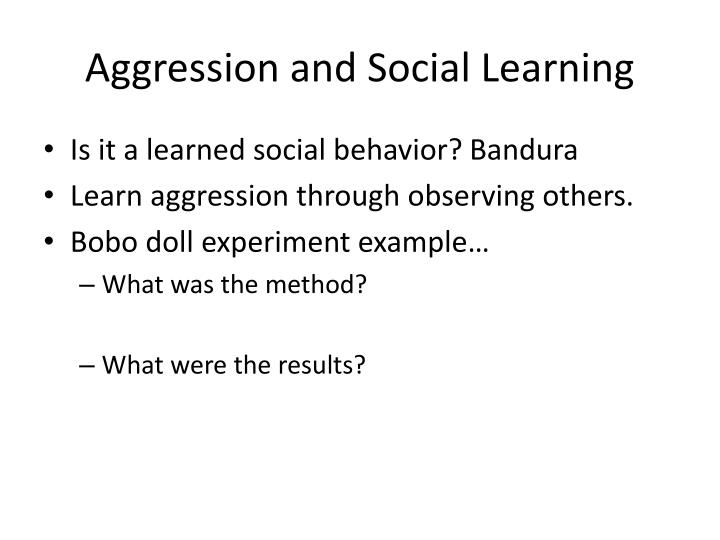 Aggression and Social Learning