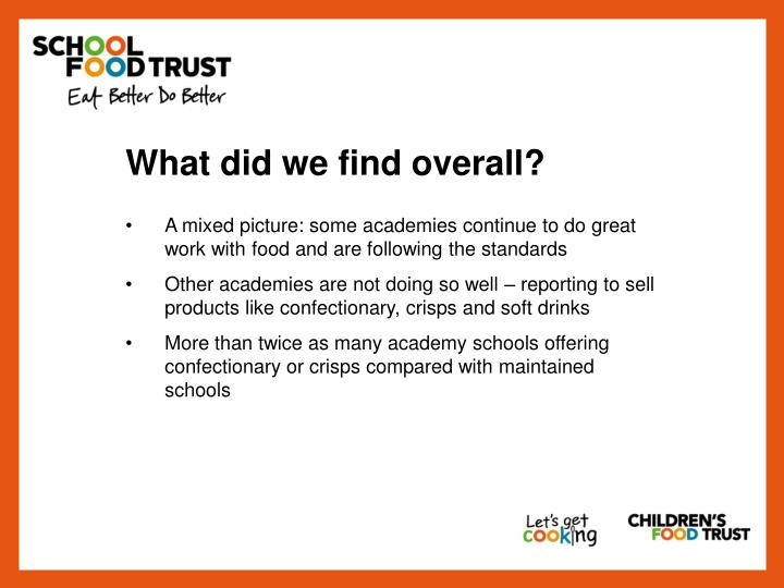 What did we find overall?