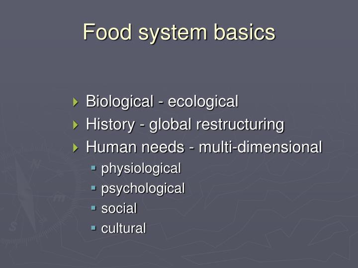 Food system basics