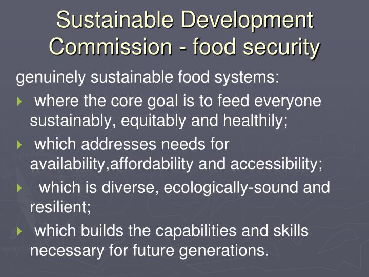 Sustainable Development Commission - food security