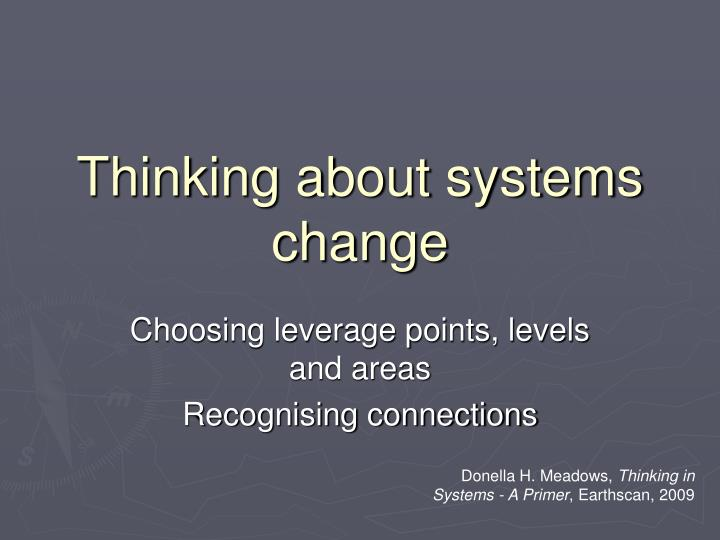 Thinking about systems change