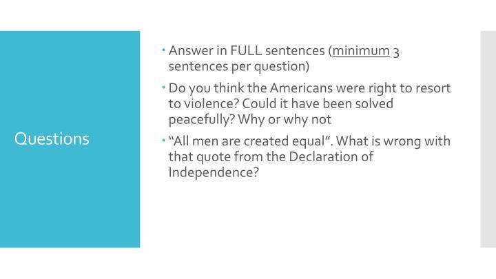 Answer in FULL sentences (