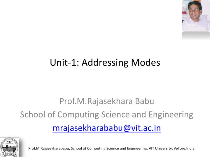 Unit 1 addressing modes