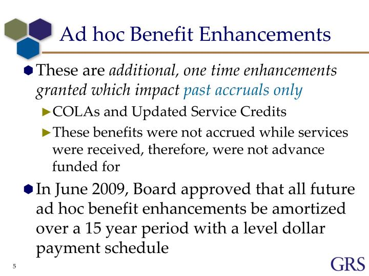 Ad hoc Benefit Enhancements