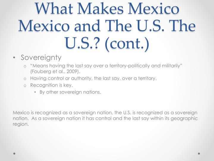 What Makes Mexico