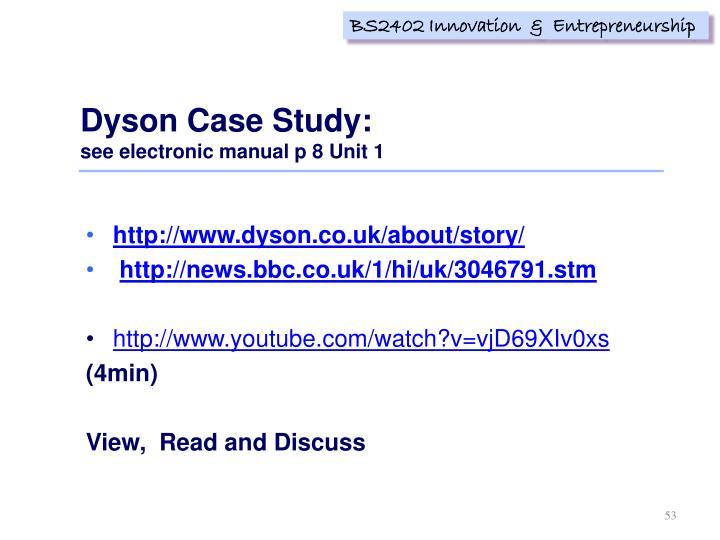 Dyson Case Study: