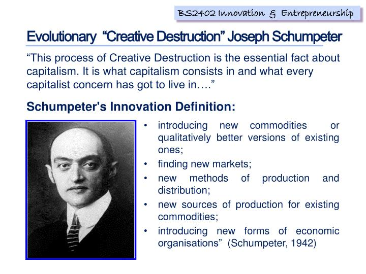 "Evolutionary  ""Creative Destruction"""