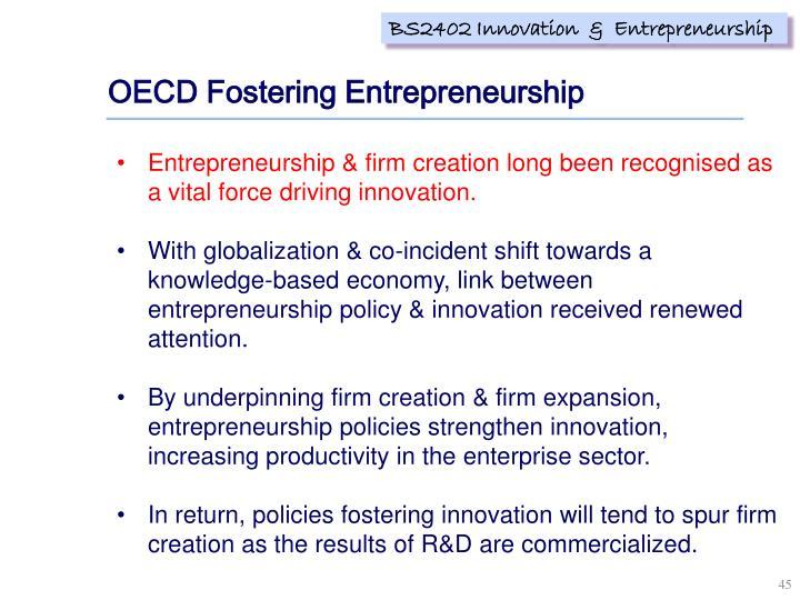 OECD Fostering Entrepreneurship