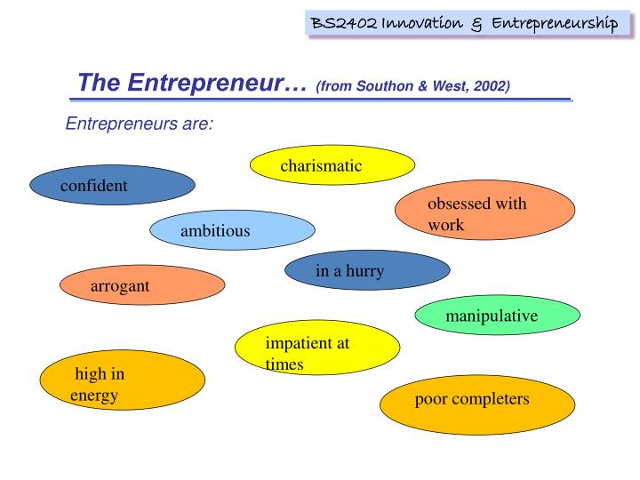 The Entrepreneur…