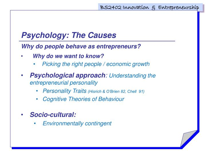 Psychology: The Causes