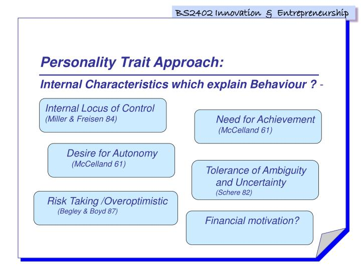 Personality Trait Approach: