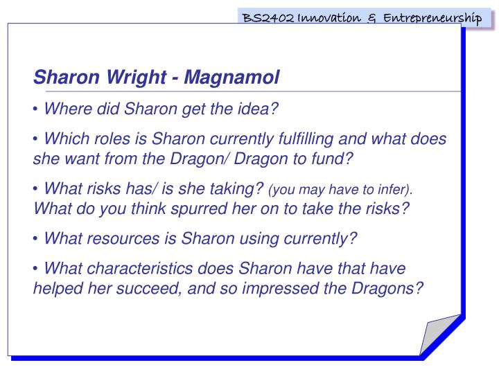 Sharon Wright - Magnamol