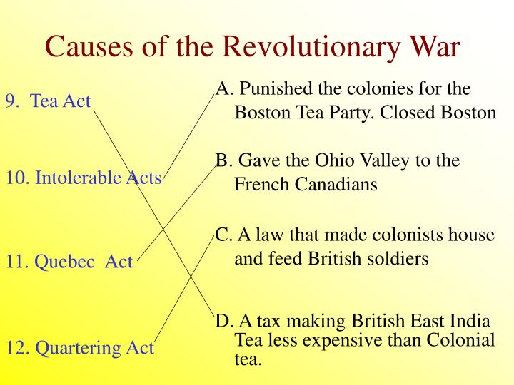 A. Punished the colonies for the Boston Tea Party. Closed Boston