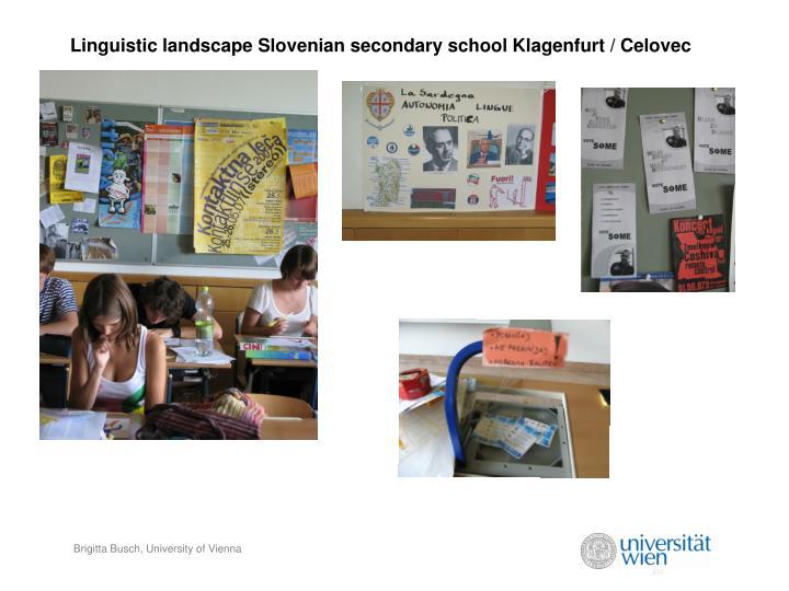Linguistic landscape Slovenian secondary school Klagenfurt / Celovec