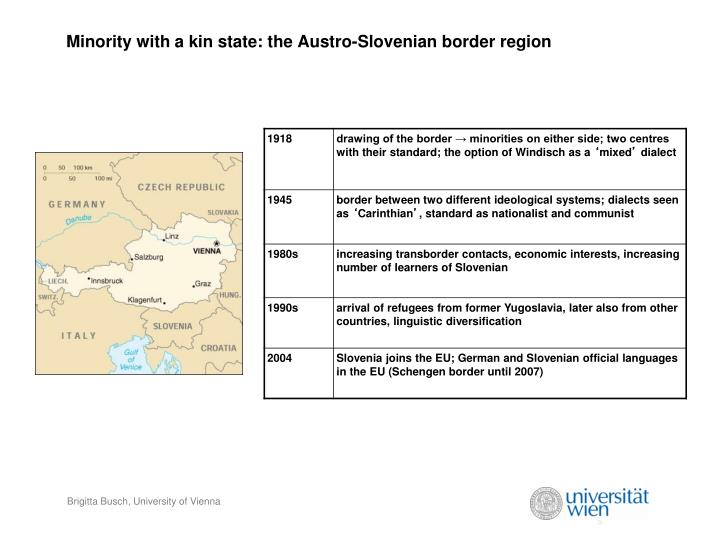 Minority with a kin state: the Austro-Slovenian border region