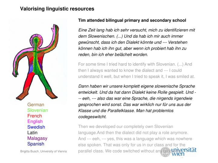 Valorising linguistic resources