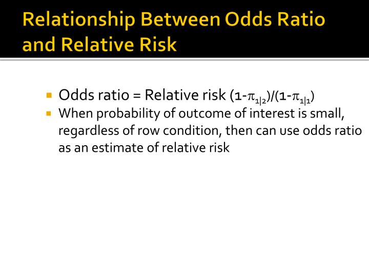 Relationship Between Odds Ratio and Relative Risk
