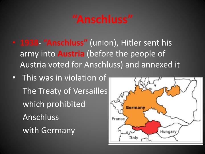 """""""Anschluss"""""""