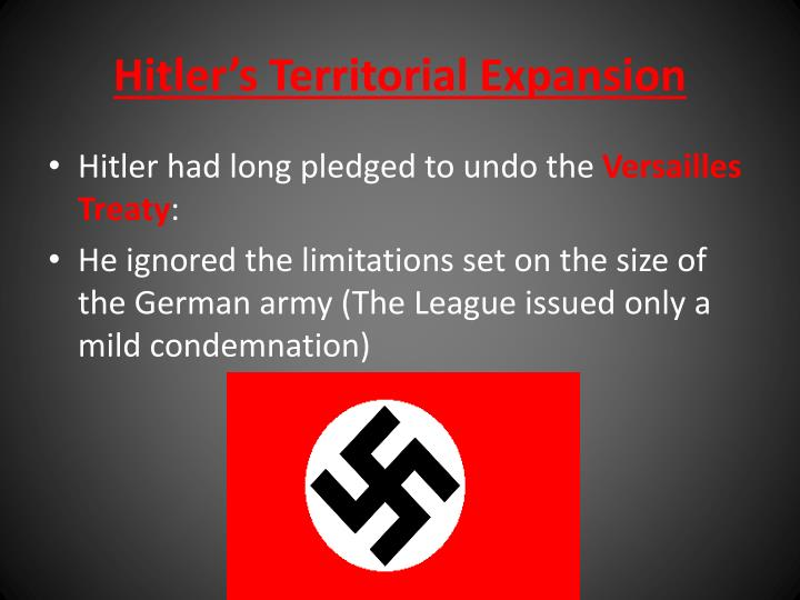 Hitler's Territorial Expansion