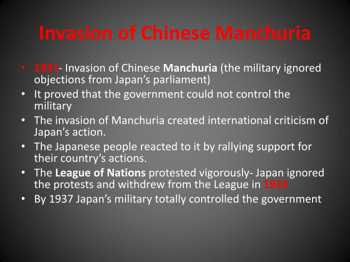 Invasion of Chinese Manchuria
