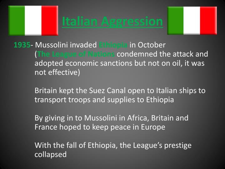 Italian Aggression