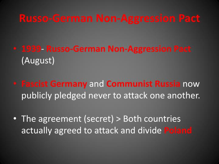 Russo-German Non-Aggression Pact