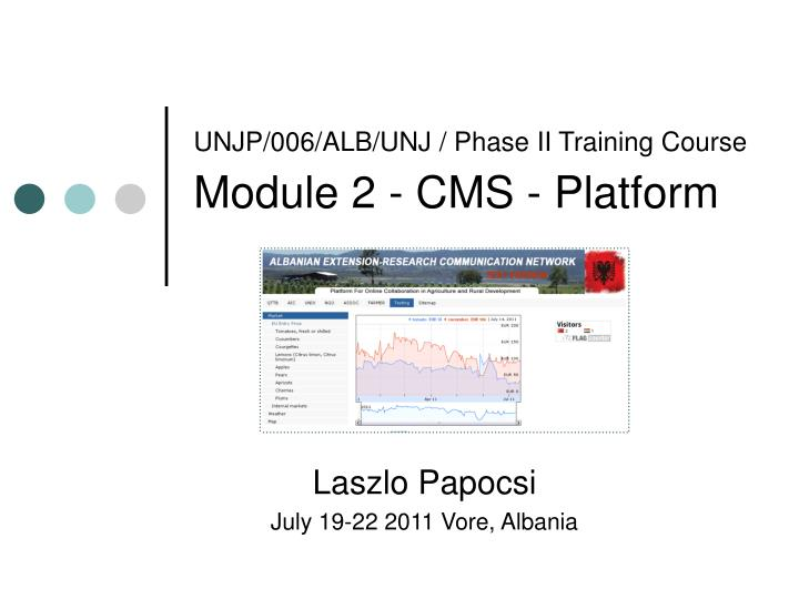 UNJP/006/ALB/UNJ / Phase II Training Course