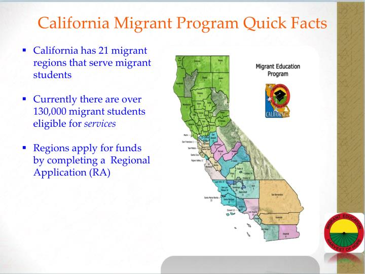 California Migrant Program Quick Facts