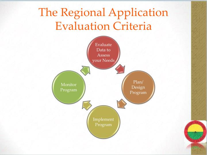 The Regional Application Evaluation Criteria