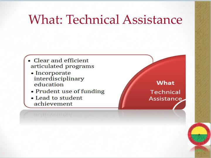 What: Technical Assistance