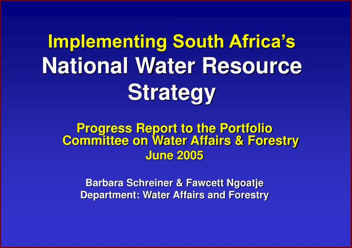 critique of south africa s national water South africa, a water-stressed country, also exports oil products, minerals, and metals, all of which require enormous amounts of water for example, it exported 211 tonnes of platinum in 2012.