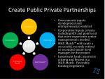 create public private partnerships