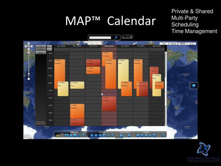 MAP™  Calendar